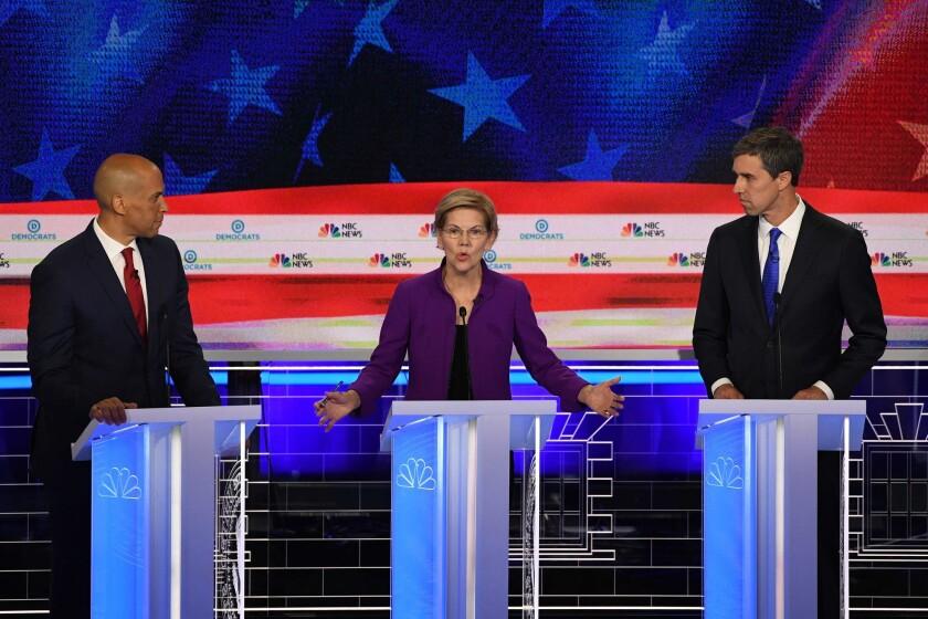Candidates at June 2019 presidential debate