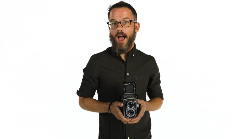 SAN DIEGO, CA 8/15/2018: Kevin Linde, adult programs manager at the Museum of Photographic Arts (MOP