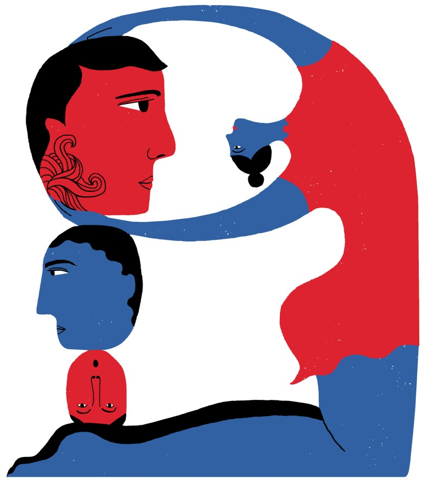 la-hm-0126-affairs //// Illustration by Hanna Barczyk / For The Times. To run 01/26/2019 with L.A. A