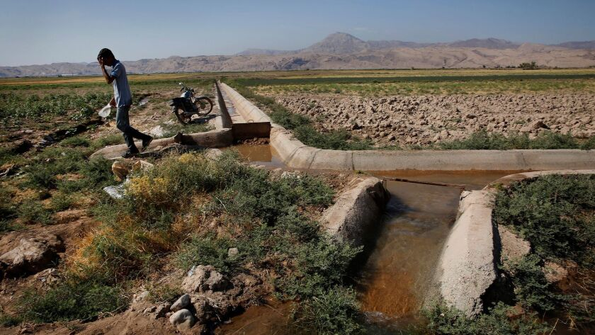 GARMSAR, IRAN--AUGUST 2016--In the village of Qiyasabad, farmers are dealing with a sustained drough