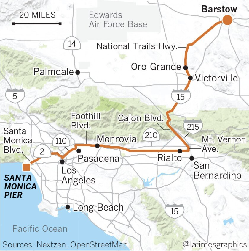 Map Of California Route 66.Road Trip Here S Our Pick For Route 66 In Southern California Los