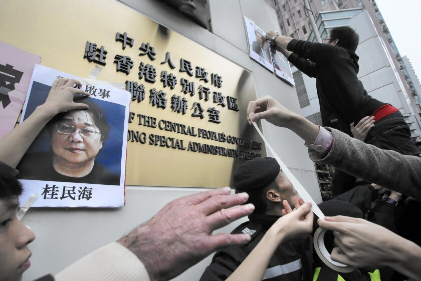 Protests over book publisher Gui Minhai's disappearance