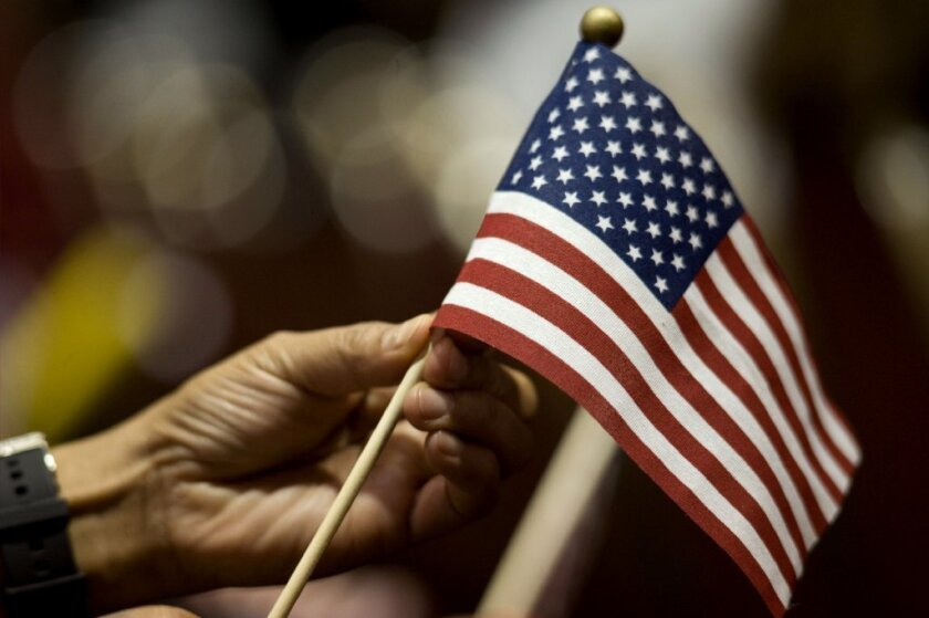 An immigration citizenship ceremony