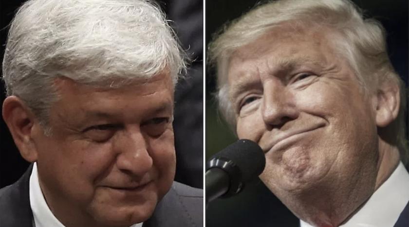 Andrés Manuel López Obrador (i), aspirante presidencial mexicano, advirtió al presidente de Estados Unidos, Donald Trump.
