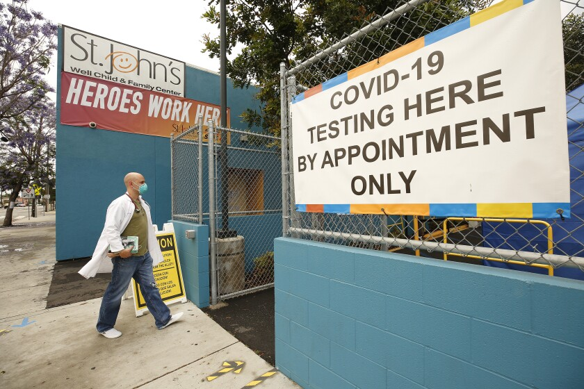 Several coronavirus test centers throughout L.A. County have been temporarily closed or modified in hours.