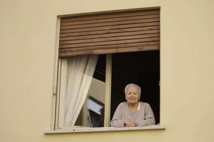 Virus Outbreak Italy Elderly