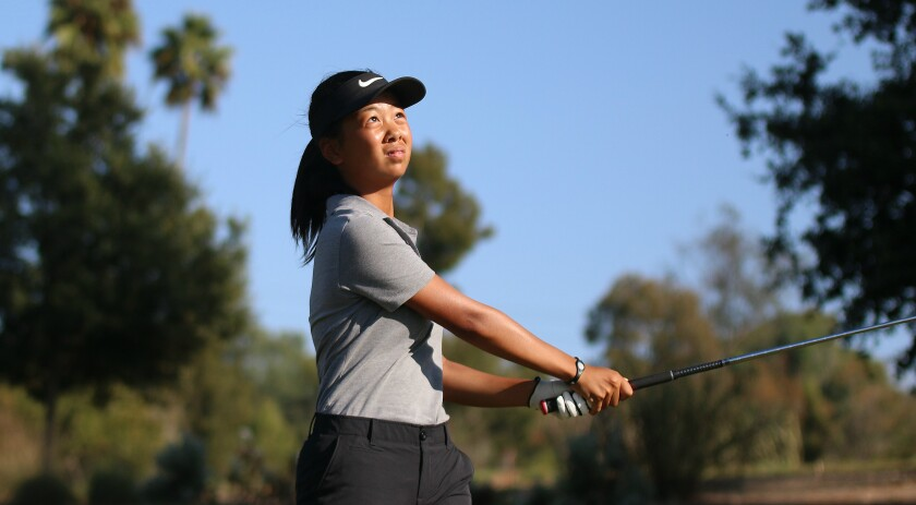 Emily Zhou teamed with Wei to provide a talented freshmen duo for Torrey.