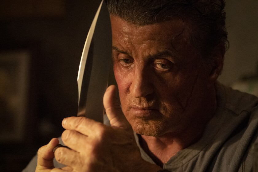 "Sylvester Stallone stars as 'John Rambo' in ""Rambo: Last Blood."""