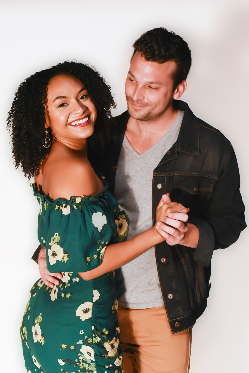 """Racquel Williams and Michael Louis Cusimano star in Cygnet Theatre's """"The Last Five Years."""""""