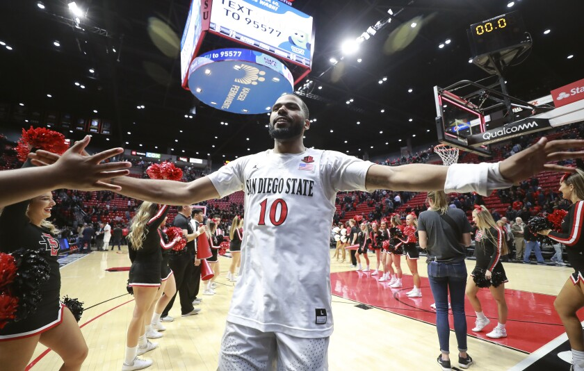 Improvements in field-goal, 3-point and free-throw shooting has helped guard KJ Feagin and the Aztecs surge to 20-0, tying the best start in program history.