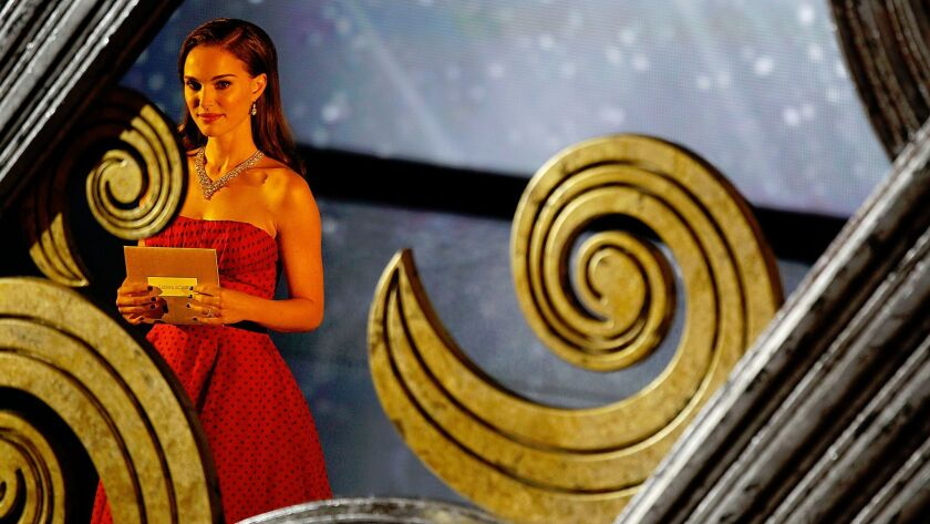 Presenter Natalie Portman at the 84th Academy Awards on Feb. 26, 2012.