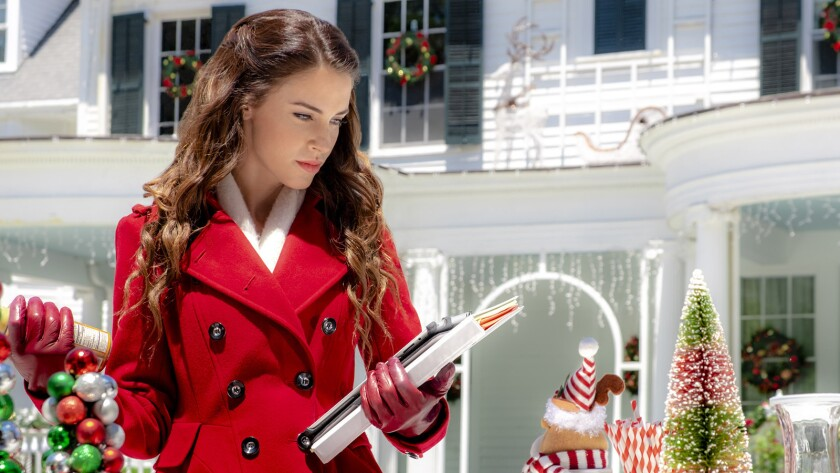 """Jessica Lowndes in the TV Movie """"Christmas at Pemberley Manor"""" on Hallmark."""