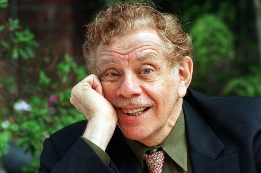 Actor-comedian Jerry Stiller photographed in Hollywood in 1994.