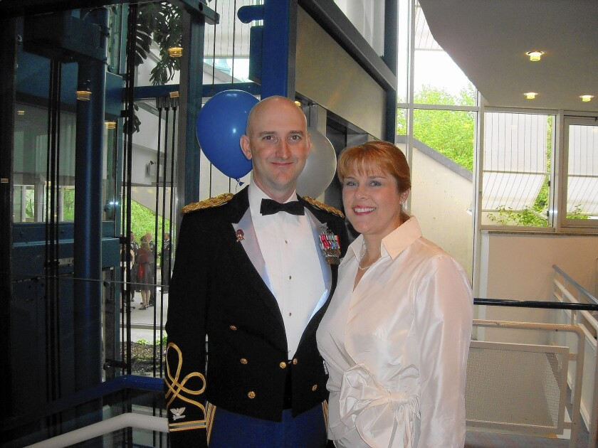 Col. James H. Johnson and then-wife Kris in Bamberg, Germany, in 2009. She eventually reported his sexual misconduct even though she knew it might mean that she and her two children would lose military benefits as a result.