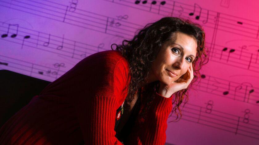 SPRING VALLEY, CA 11/29/2017: Sarah Alida LeClair, singer, actress, and performing arts, piano, and