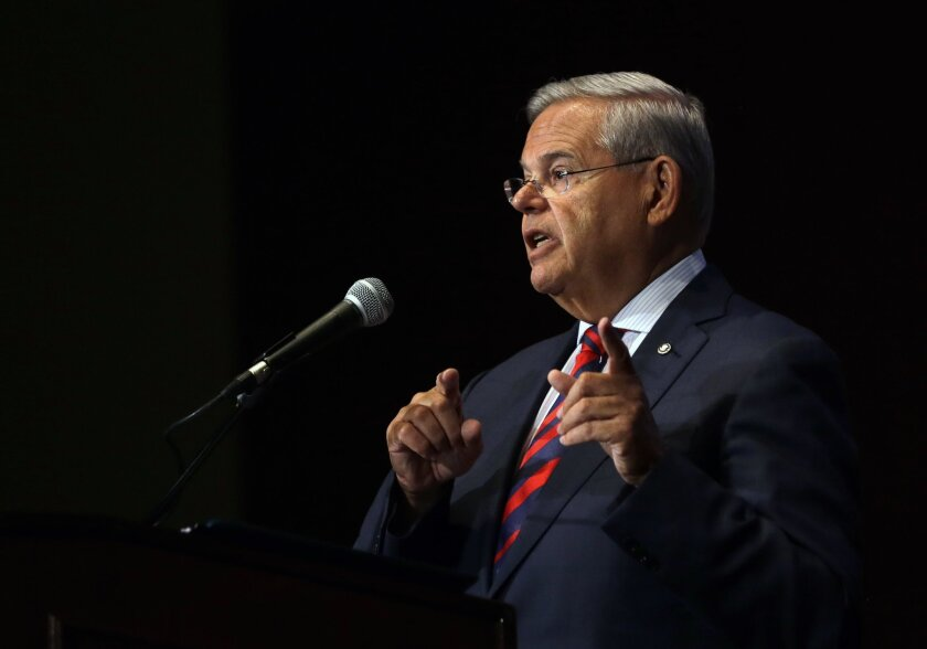 Robert Menendez of New Jersey is one of two Democratic senators to oppose the Iran nuclear deal.