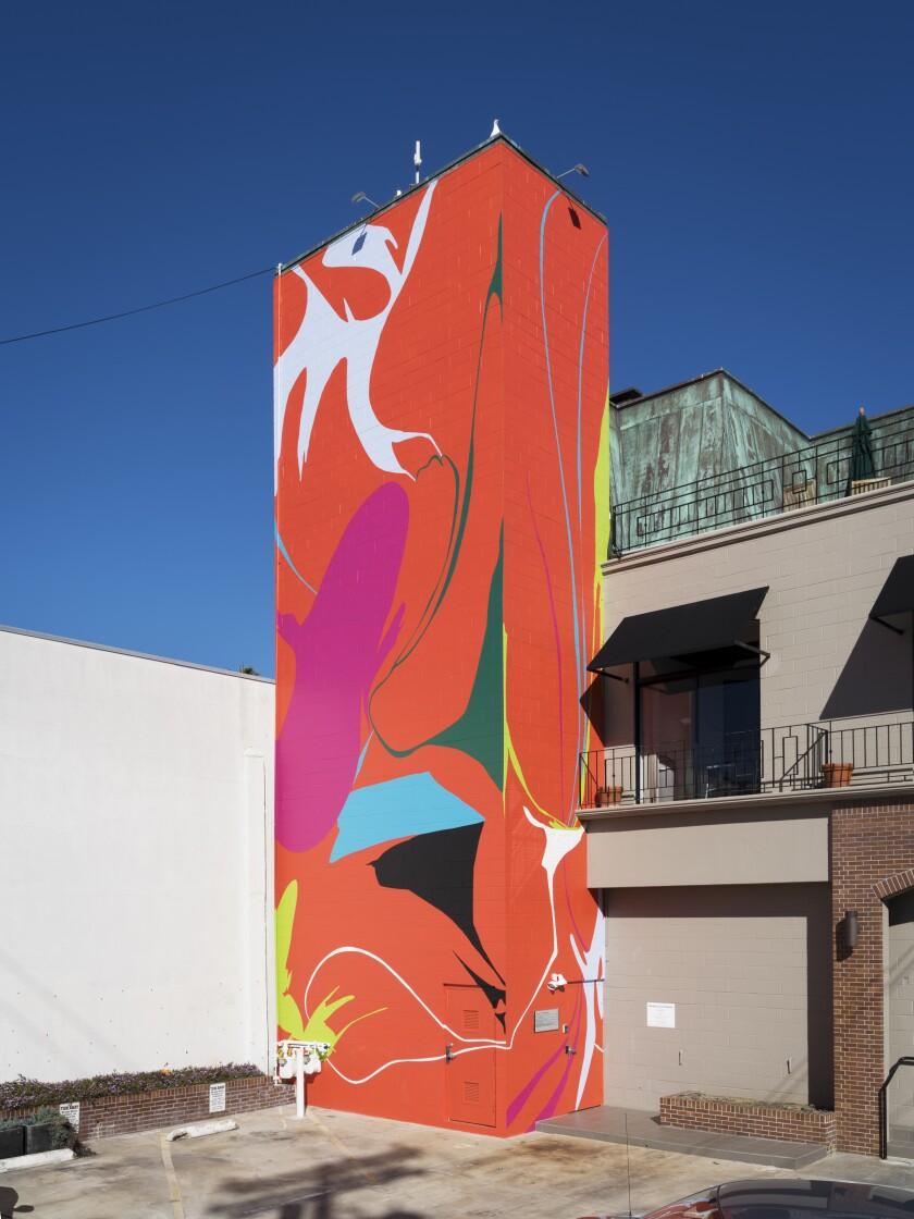 """Murals of La Jolla: Heather Gwen Martin's """"Landing"""""""