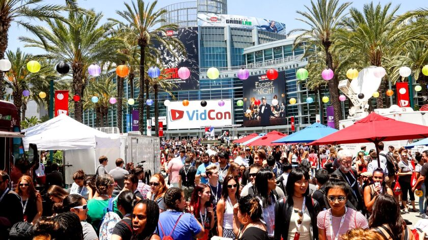 The 7th annual VidCon at the Anaheim Convention Center in June drew 26,400 attendees, a 30% increase. The city of Anaheim broke previous records with 23 million visitors in 2016.