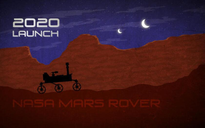 An illustration featuring the 2020 Mars rover, which could potentially collect samples from the Red Planet for future missions to bring to Earth. A federal spending bill would allocate $65 million this year for the project, officials said.
