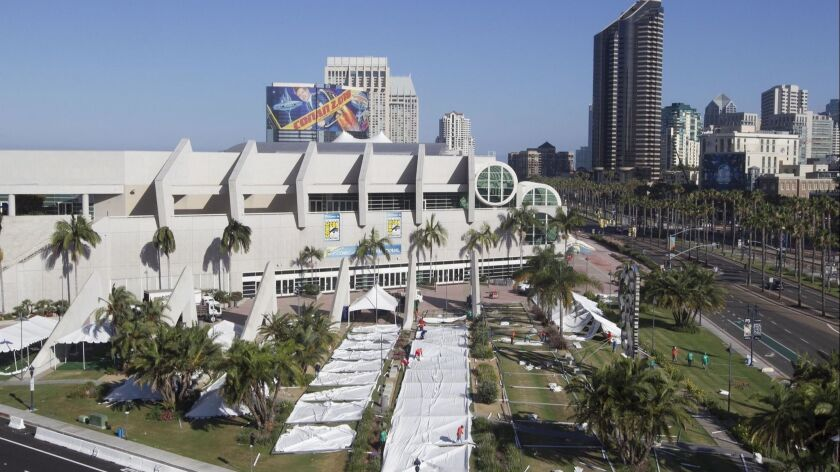 San Diego city and tourism leaders have long hoped to expand the city's convention center to attract larger conventions and keep ones that are outgrowing the facility, like Comic-Con.