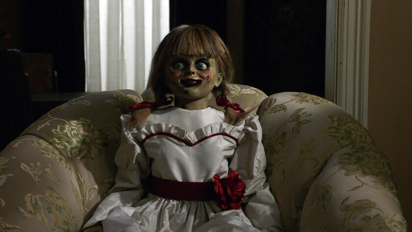 "The Annabelle doll in ""Annabelle Comes Home."""