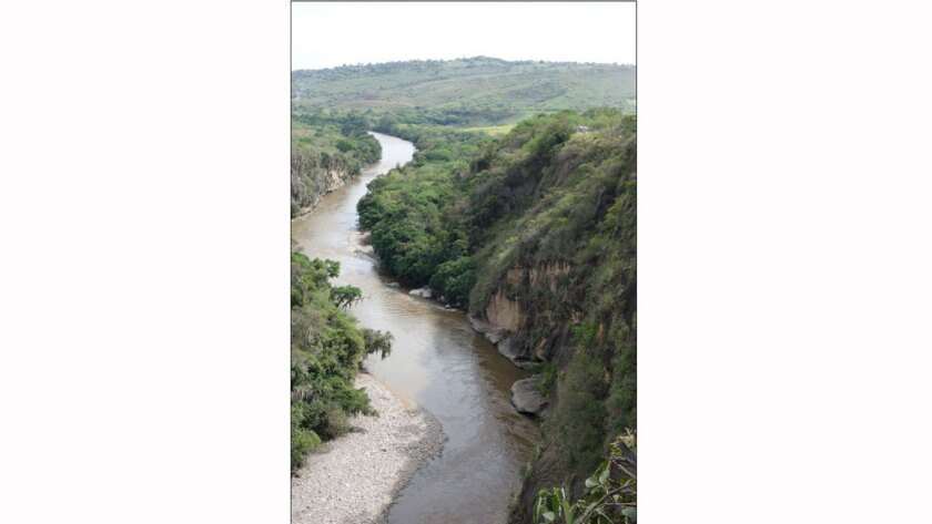 Pericongo Canyon on Colombia's Magdalena River would be inundated if a Chinese plan to build a string of dams goes through.