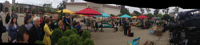 A panoramic look at the upgraded Plaza de Panama.