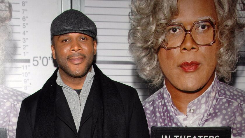 "Actor Tyler Perry attends the premiere of ""Tyler Perry's : Madea Goes to Jail"" in New York."