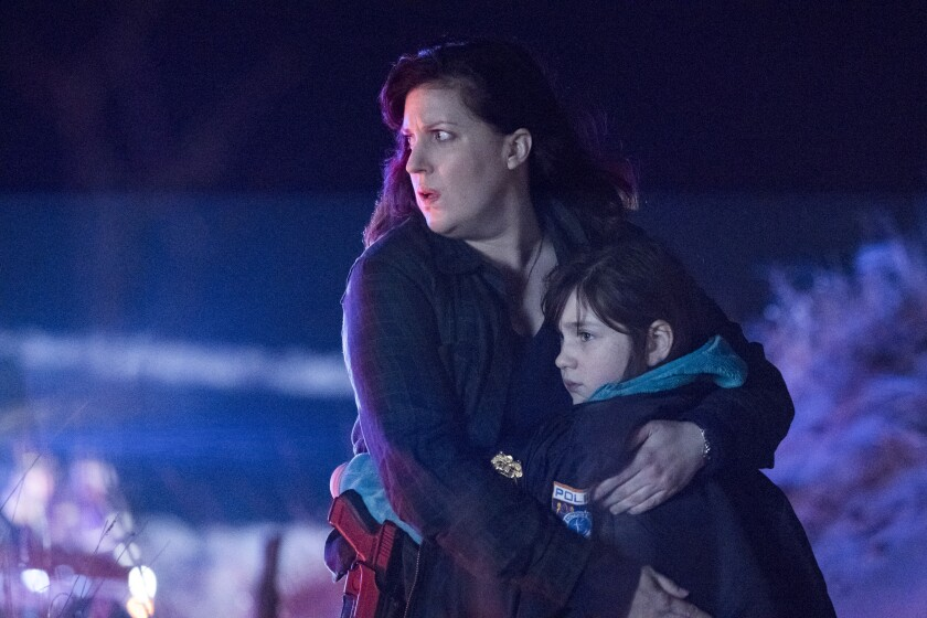 "Allison Tolman, left, and Alexa Swinton in ""Emergence"""