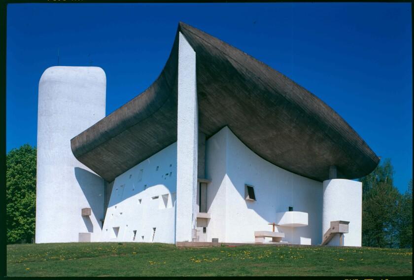The Chapel of Notre-Dame du Haut, built in 1954 in Ronchamp, France.