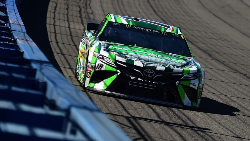 Kyle Busch took another win Sunday at Auto Club Speedway in Fontana.