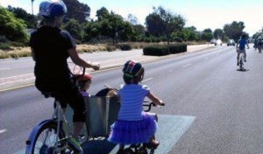 The Solana Beach Joy Ride and Walk promotes safe cycling and walking. The organizers of Arts Alive are hoping the public will ride bikes or walk to the Sept. 28 event. Courtesy photo