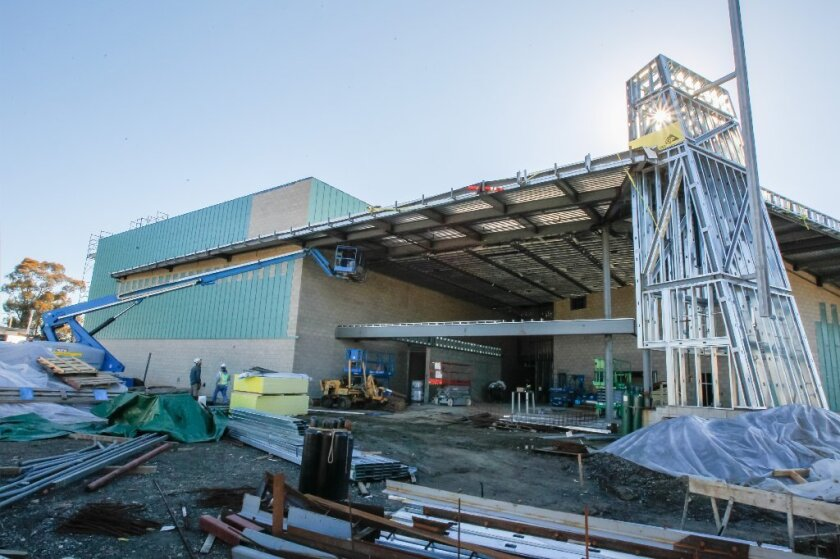 Construction continues on the new $20 million Oceanside High School Performing Arts Center.