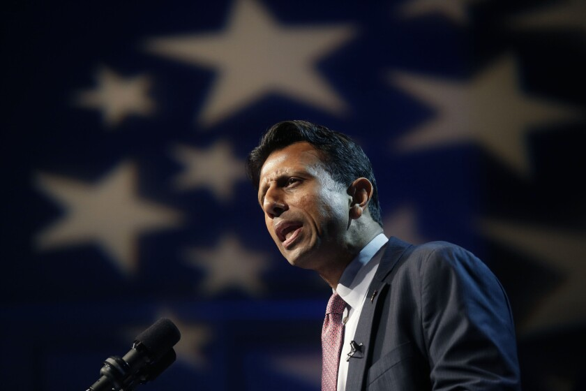 Gov. Bobby Jindal announces his candidacy for the Republican presidential nomination in Kenner, La.