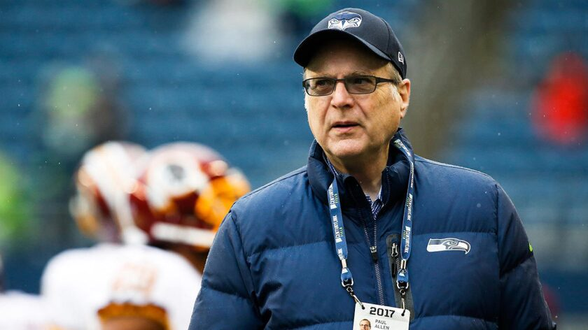 Paul Allen, cofundador de Microsoft, y dueño de varios equipos deportivos en Estados Unidos.