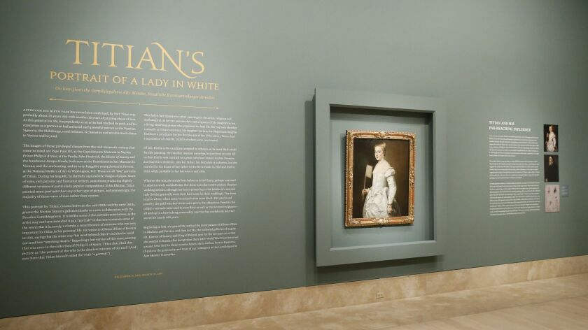 """Titian's Portrait of a Lady in White"""" and """"Once Upon a Tapestry Woven Tales of Helen & Dido"""" exhibition opening"""