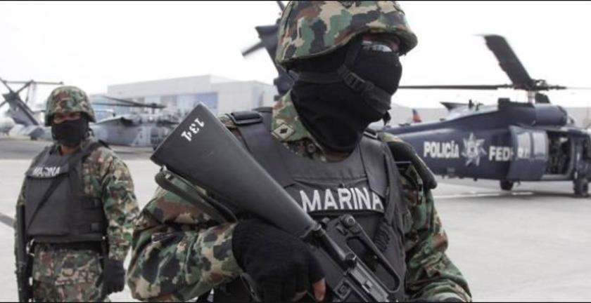 Infantes de la Marina de México.