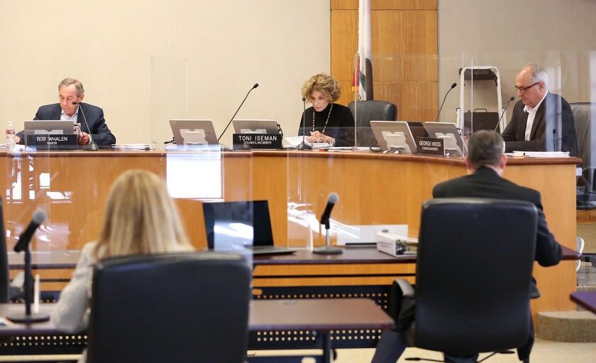 Laguna Beach City Council begins an in-chambers meeting.