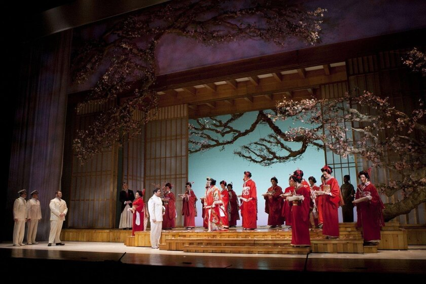 "The wedding scene from San Diego Opera's ""Madama Butterfly,"" which plays through April 24 at the San Diego Civic Theatre."