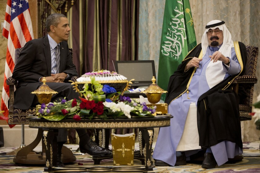 Barack Obama, King Abdullah