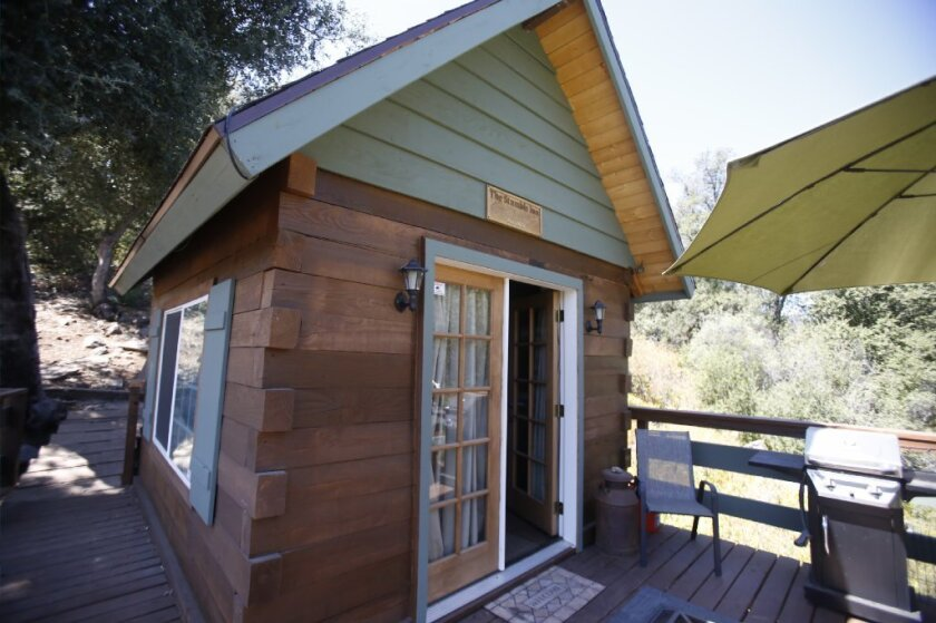 The tiny home at 26779 Old Highway 80 in Guatay is one of the cheapest homes for sale in the county at $99,000.