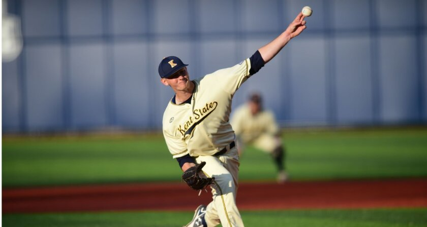 Eric Lauer, a 6-foot-3 left-hander from Kent State, was drafted 25th overall by the Padres.