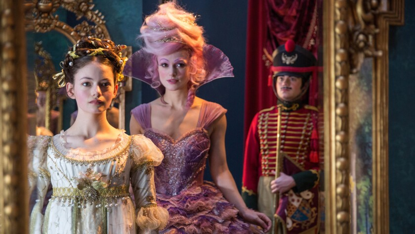"""Mackenzie Foy, left, and Keira Knightley in """"The Nutcracker and the Four Realms."""""""