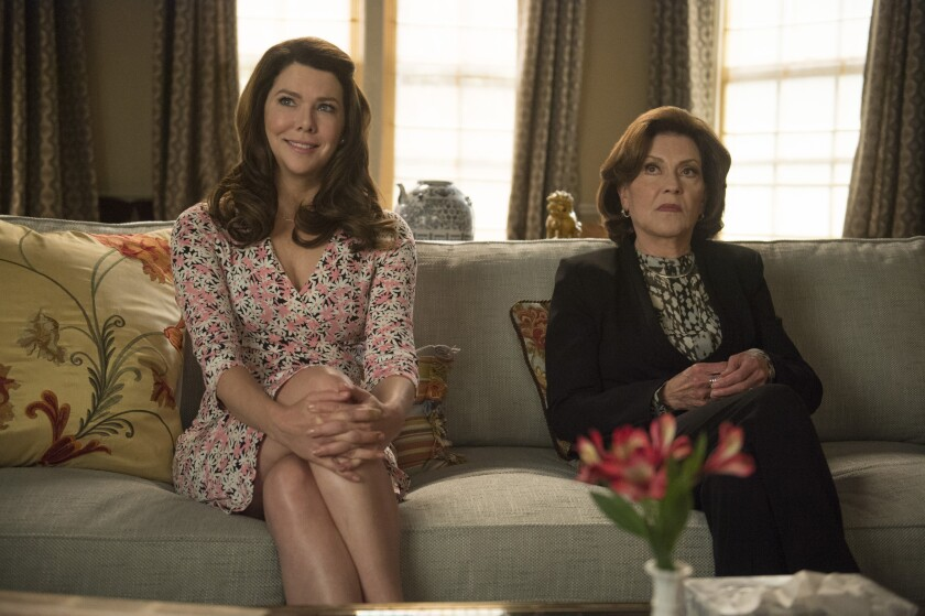 """Lauren Graham, left, as Lorelai and Kelly Bishop as Emily in a scene from """"Gilmore Girls: A Year in the Life."""""""