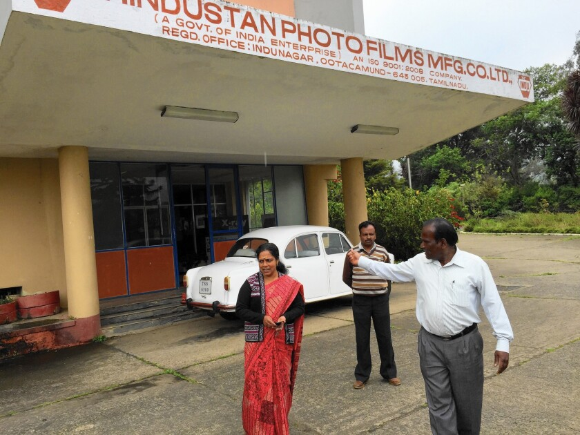 At India's state-owned Hindustan Photo Films company, no work orders have arrived in more than a year. But about 300 employees still show up each morning.