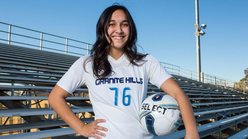 Granite Hills soccer player Malia Kealaluhi adds an artistic touch to virtually all her endeavors.