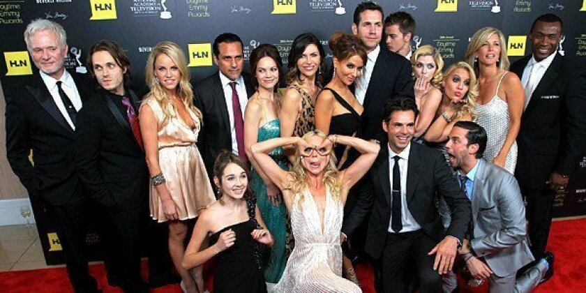 """The cast of """"General Hospital"""" attends the 39th Daytime Emmy Awards."""