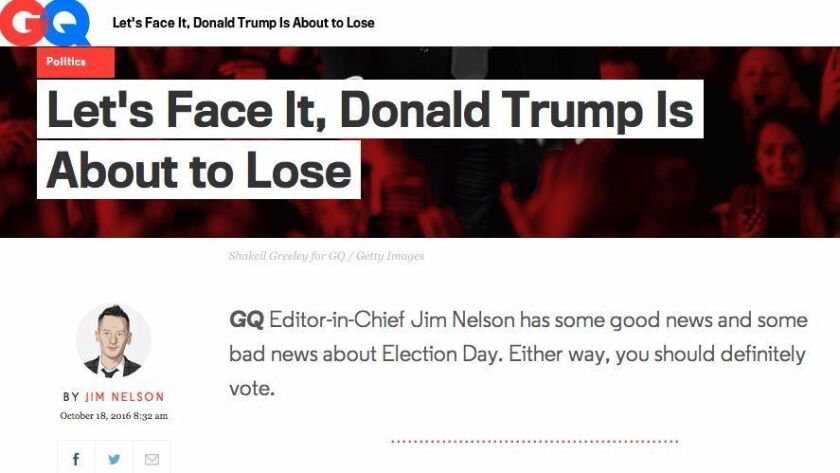 GQ Editor in Chief Jim Nelson's November editor's letter.