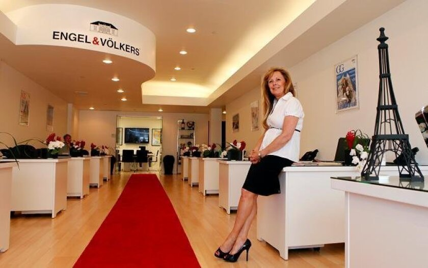 "Diane Galigher and her husband opened Engel & Völkers, a realty ""shop"" in La Jolla that has an international focus. Galigher said she prefers the traditional real estate office model, as opposed to the online operations that have sprung up in recent years."