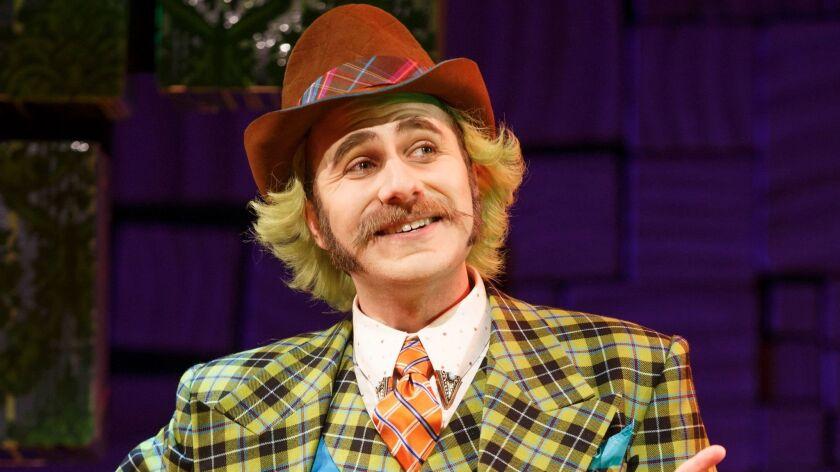 "Matt Harrington as Mr. Wormwood in ""Matilda the Musical."""